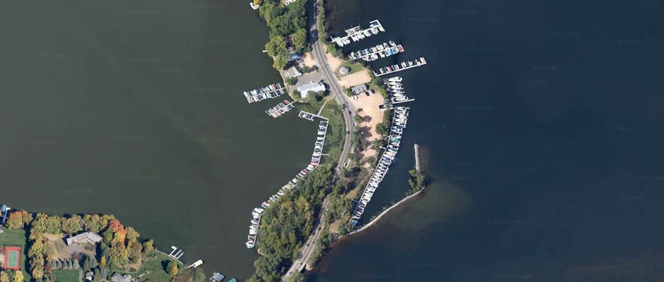 Browns Bay Marina Aerial